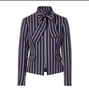 NWT Banana Republic Bow Neck Striped Jacket